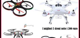 Migliori droni sotto i 200 euro: quale comprare ?